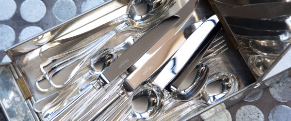 Cuidado de los productos de plata y plateado Christofle.
